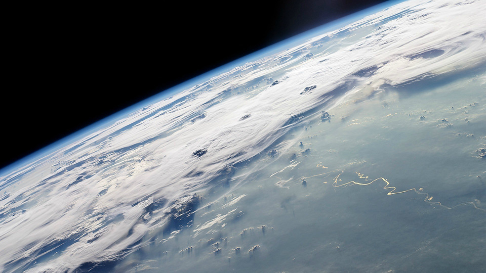 north pole from outer space