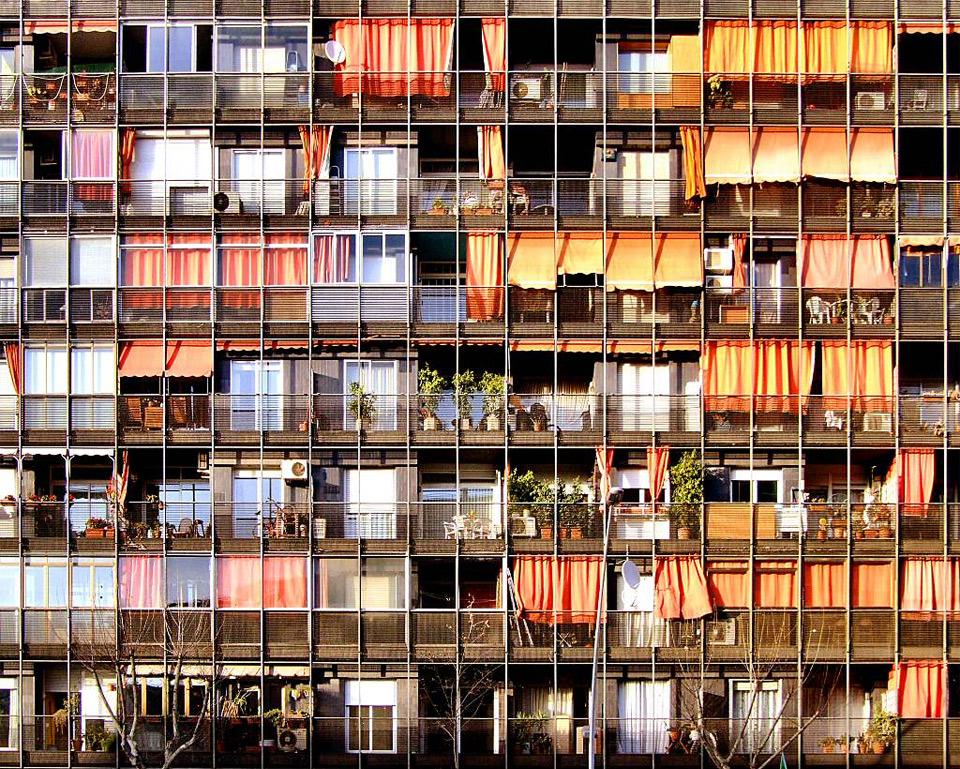 barcelona flats, 2d facade