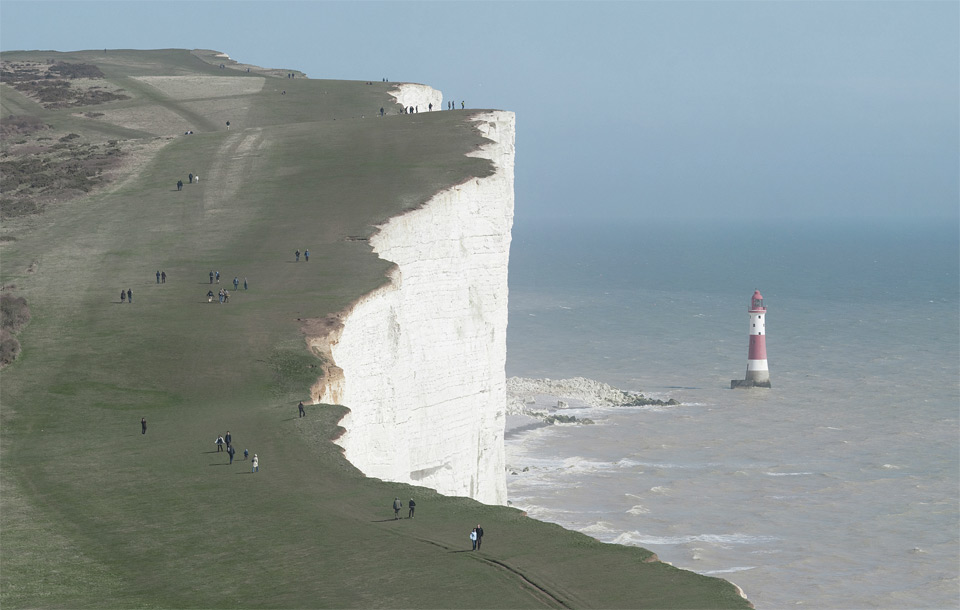 beachy head cliffs, england