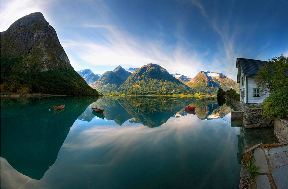 beautiful lake in norway