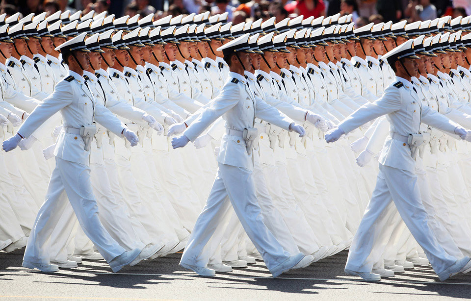 chinese sailors march