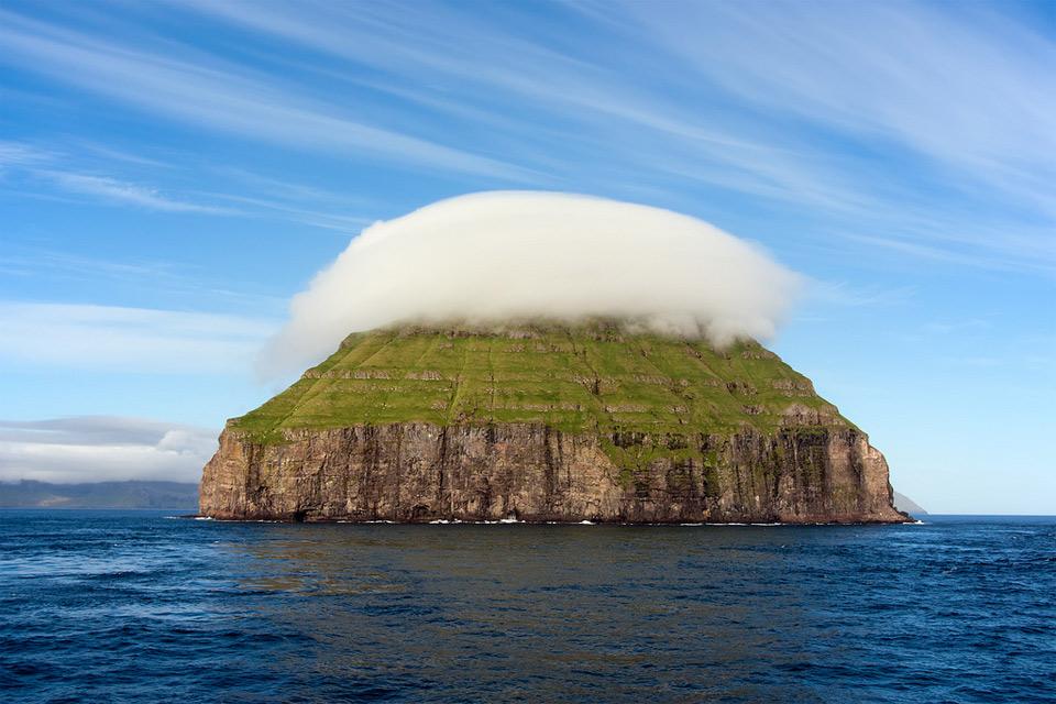 cloudy faroe island