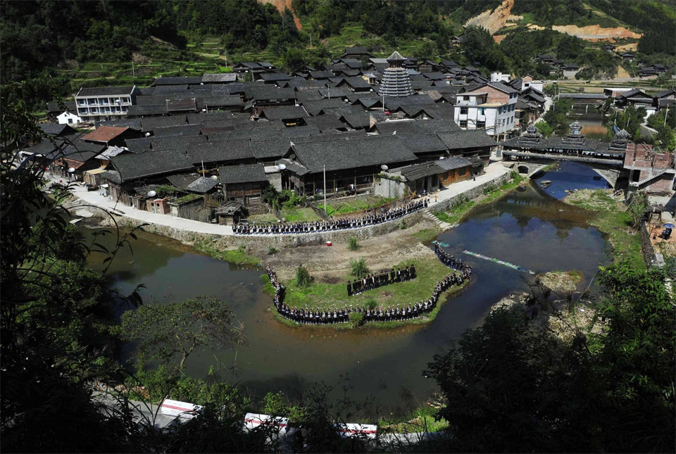 dong tribe village in china