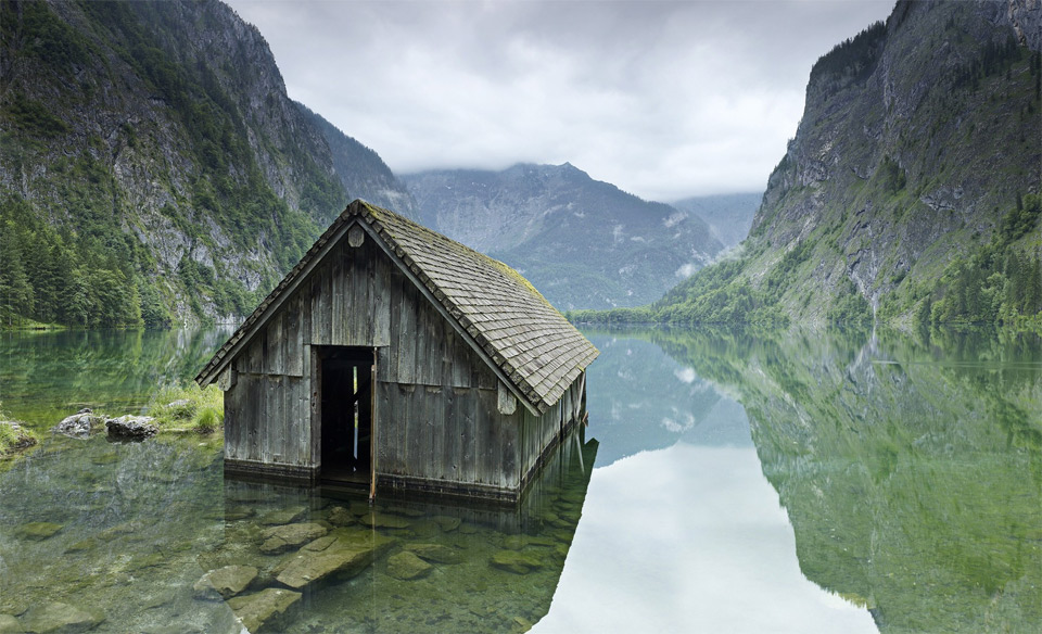 german fishing hut
