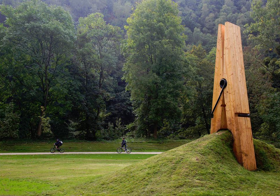 giant wooden clothespin