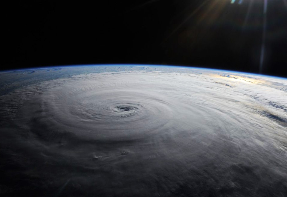 hurricane danielle from space station