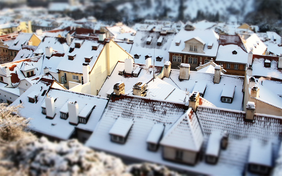 prague roofs tilt shift