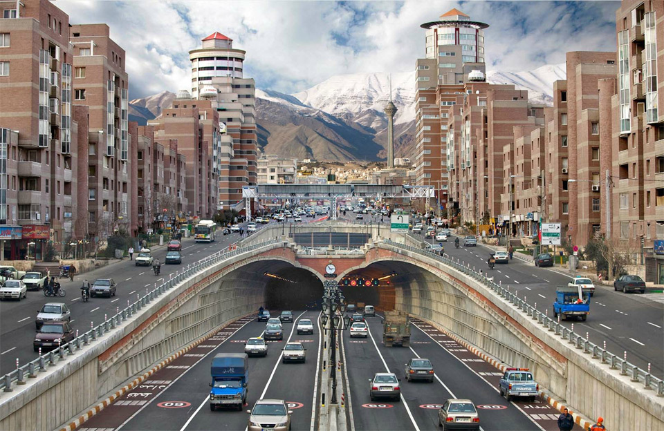 street level of tehran, iran