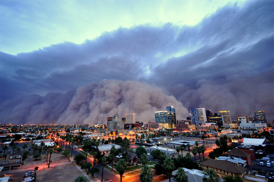 dust storm over pheonix