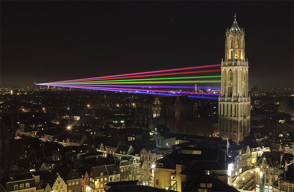 laser show in utrecht, holland