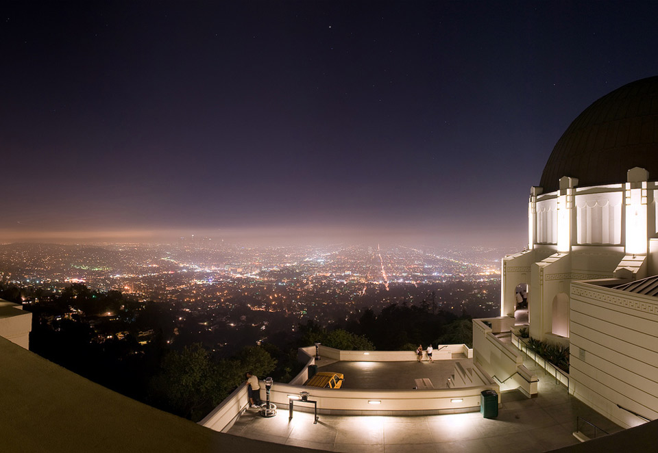 los angeles from griffith park observatory