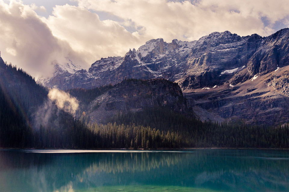 stunning lake o'hara, yoho national park, canada