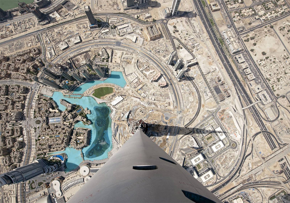 view from the top of burj khalifa, dubai