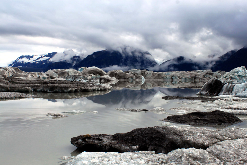 advancing alaskan glacier