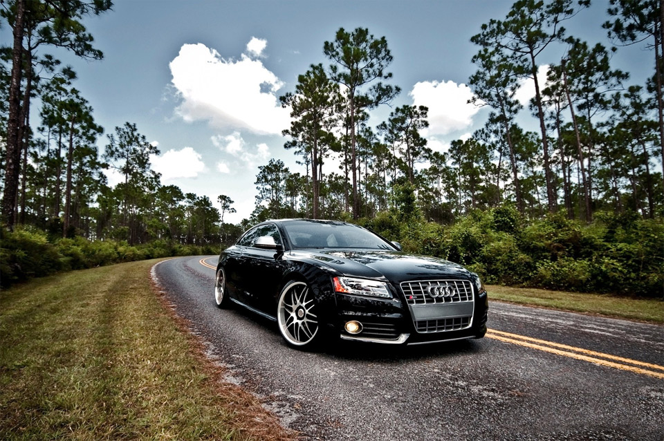 audi s5 on the road