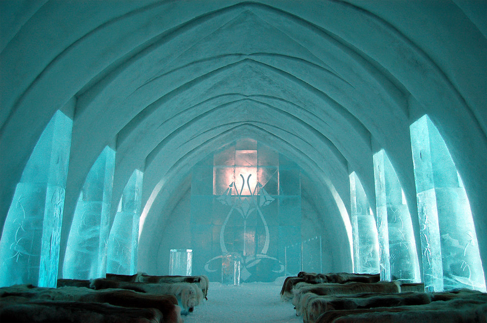 chapel of the ice hotel, sweden