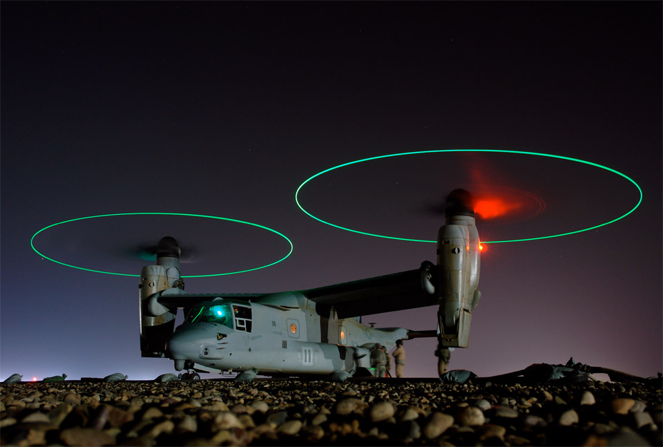osprey vertical lift aircraft in iraq