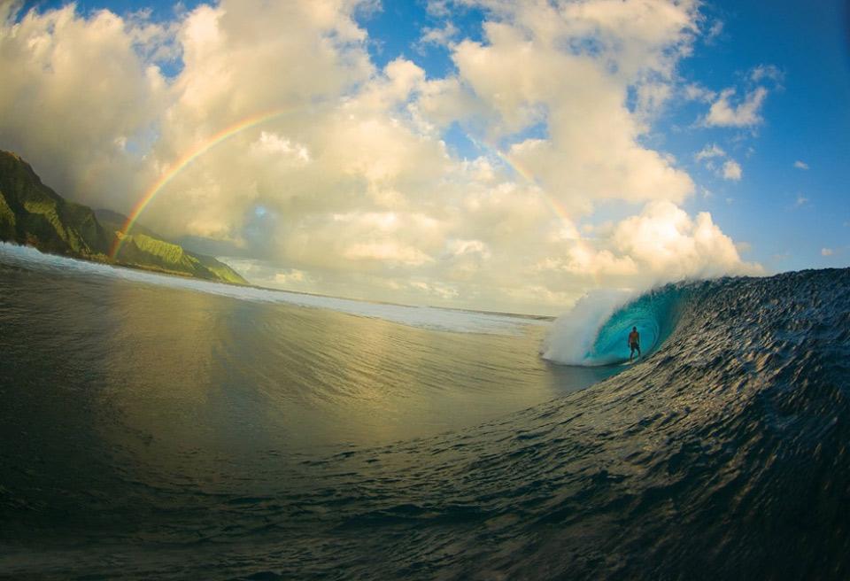 surfing perfection, tahiti