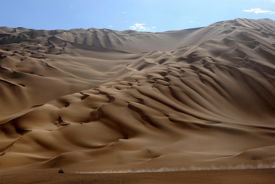 the dunes in peru