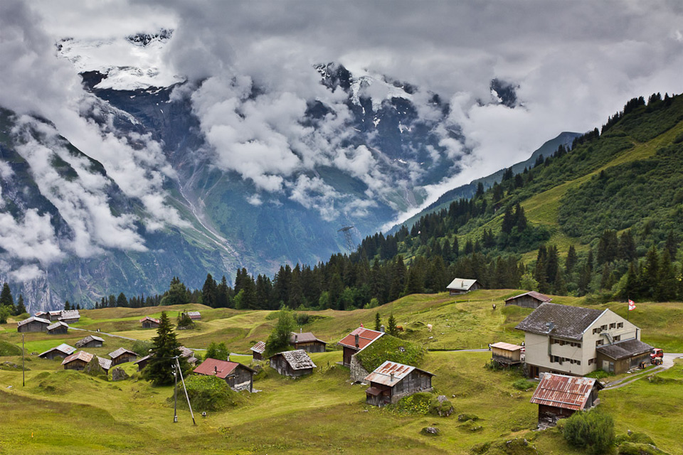 high in the swiss alps