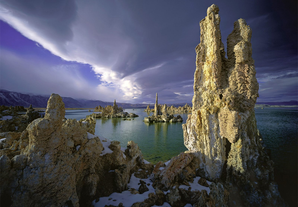 surreal mono lake, california