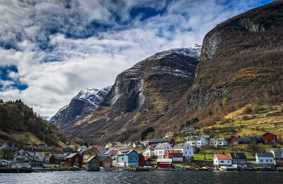 village in the fjords, norway