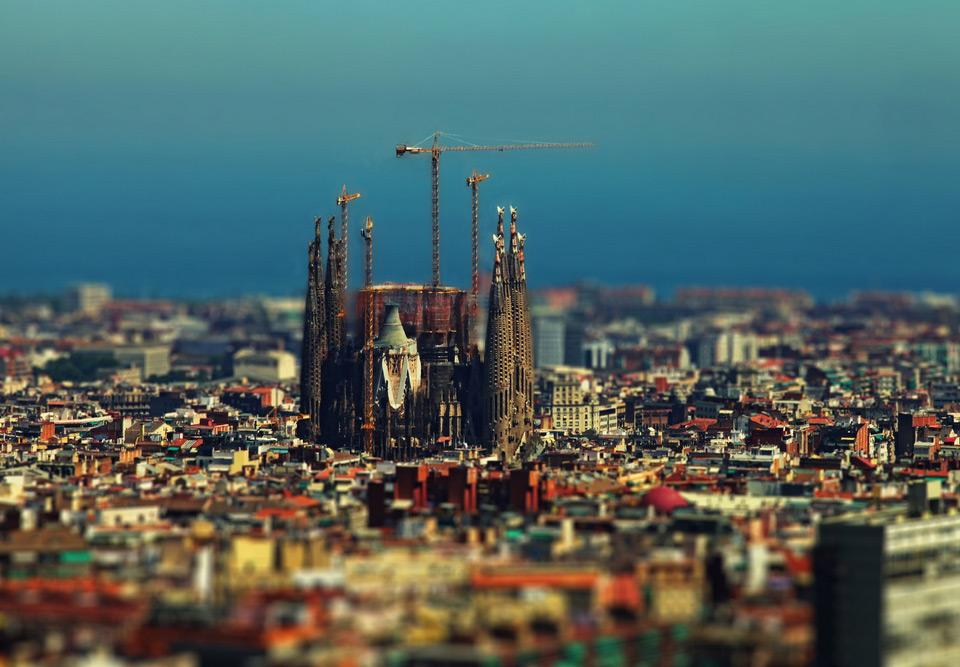 tilt-shift barcelona