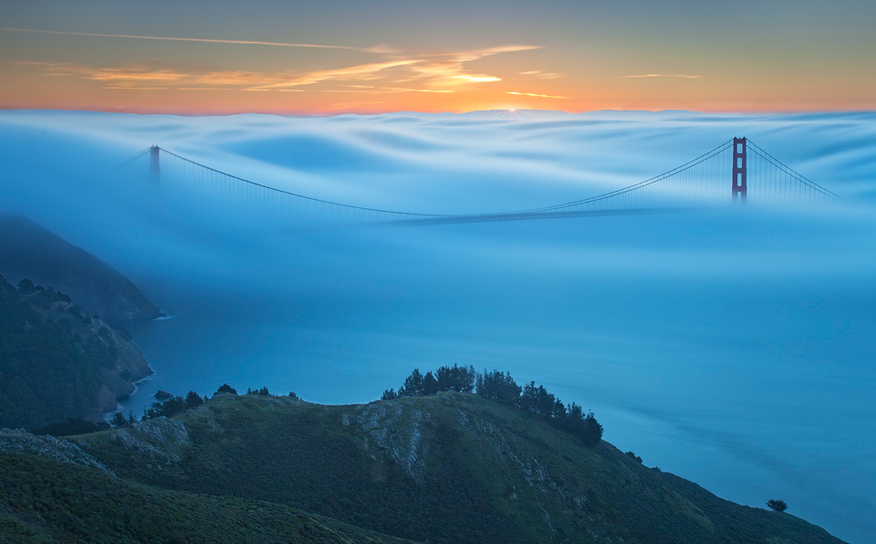 fog over golden gate