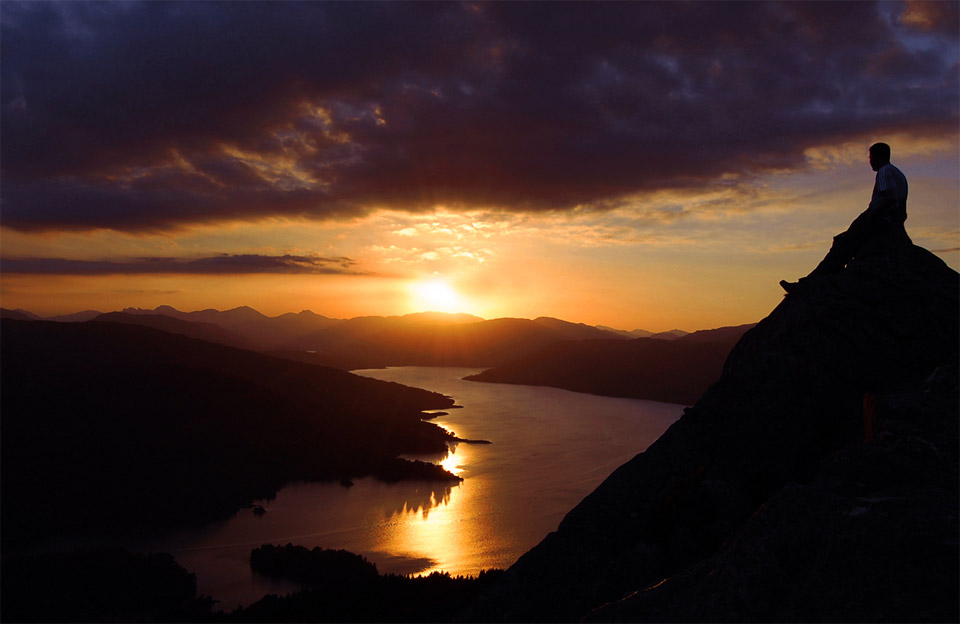 sunset over loch katerine