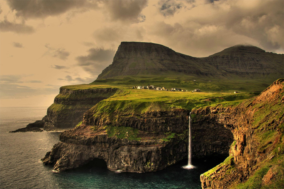 gásadalur village, faroe islands