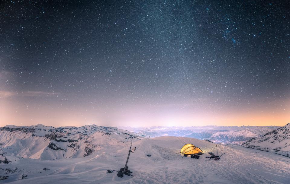 camping at 10 000 feet