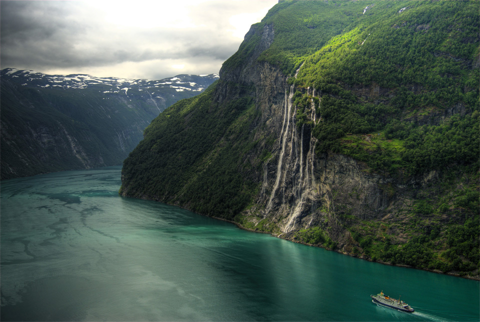 seven sisters waterfall, norway