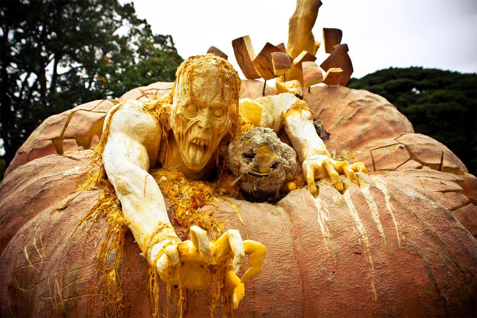 halloween pumpkin zombie
