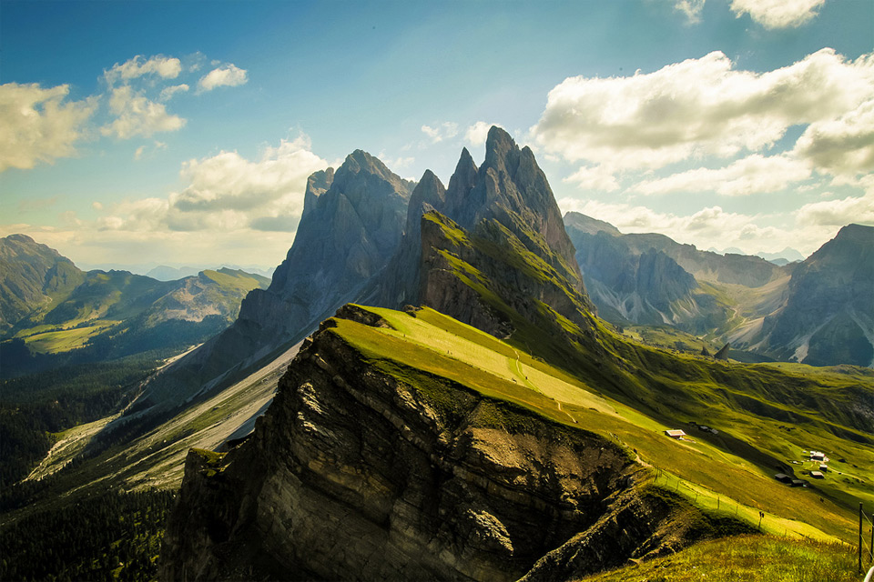 stunning dolomites mountains, italy