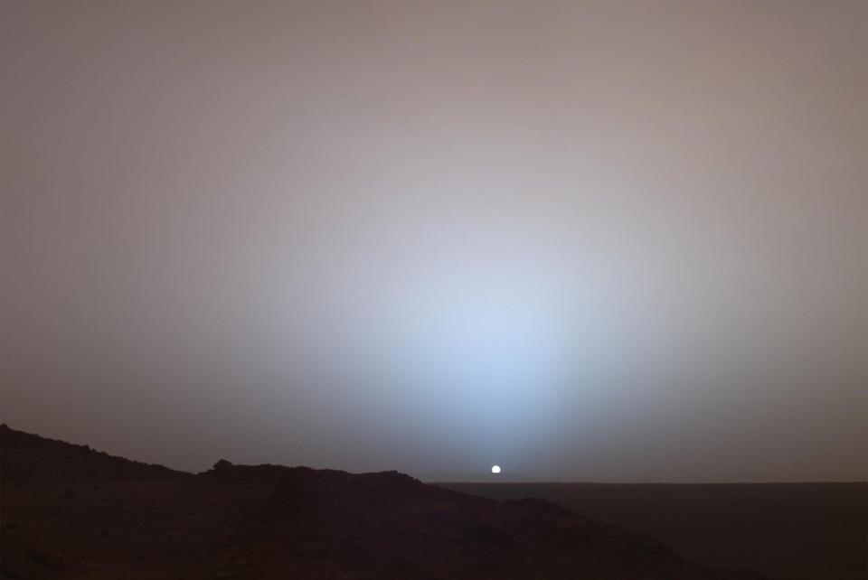 sunset seen from mars