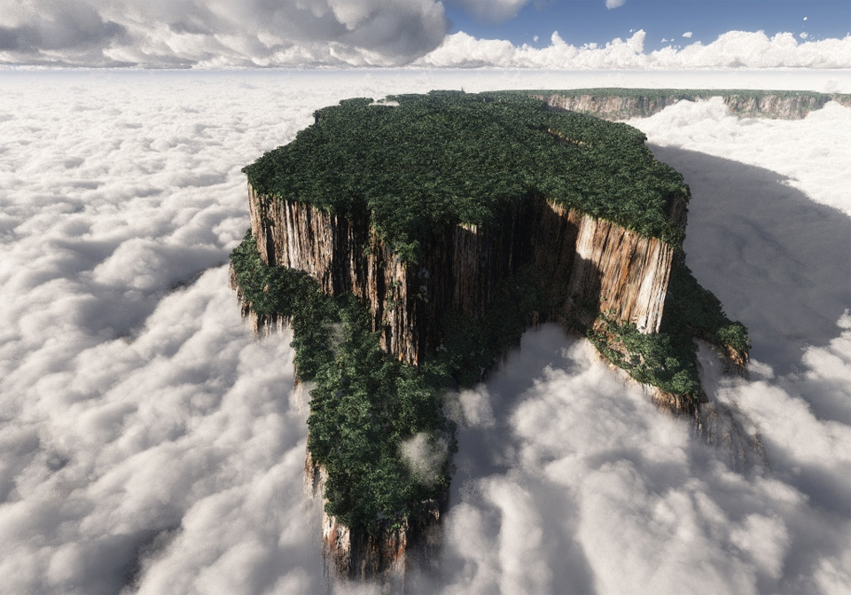 paradise falls, venezuela