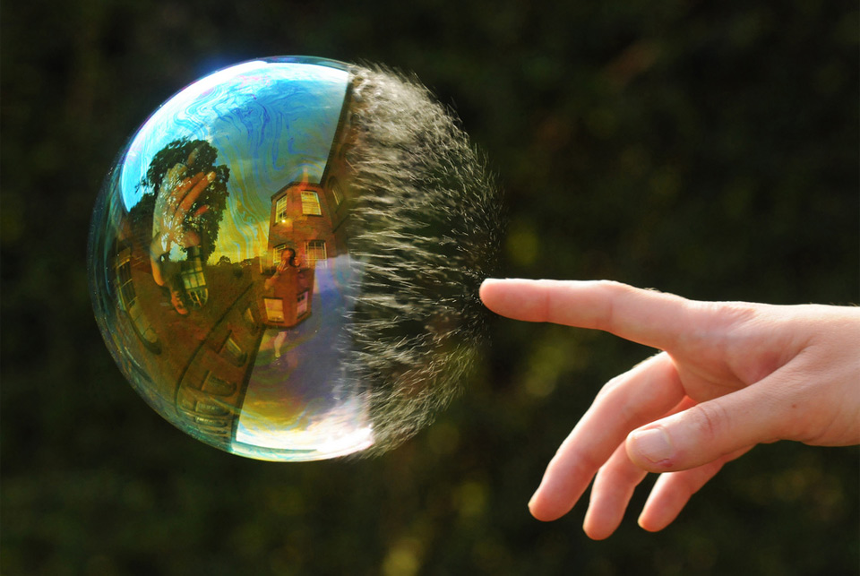 reflection-in-popping-bubble