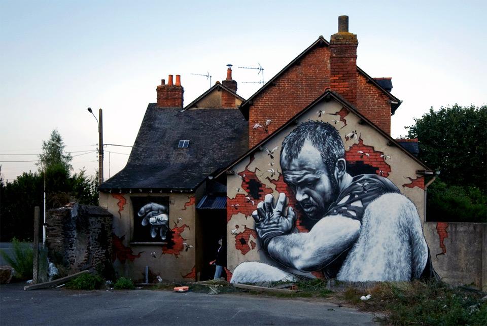 mural in rennes, france