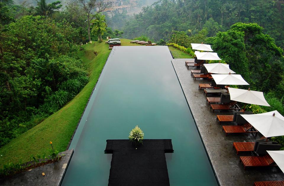 beautiful hillside resort, bali