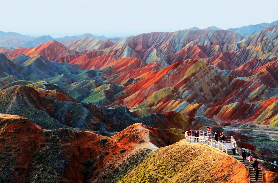 colorful rock formations, china