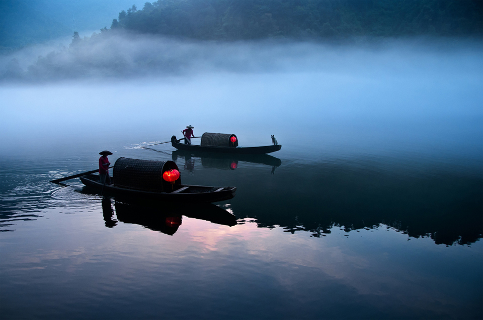 river ferry at work, china