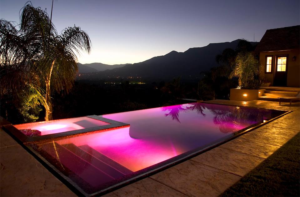 infinity pink pool
