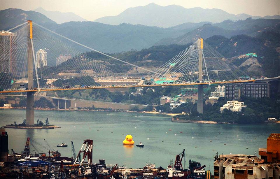 world`s largest rubber duck, hong kong