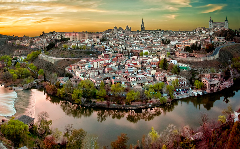 a view on toledo, spain