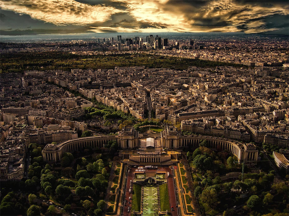 paris, seen from eiffel tower