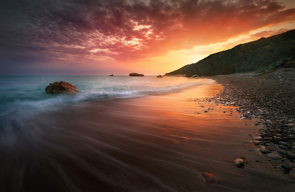 spectacular cyprus sunset