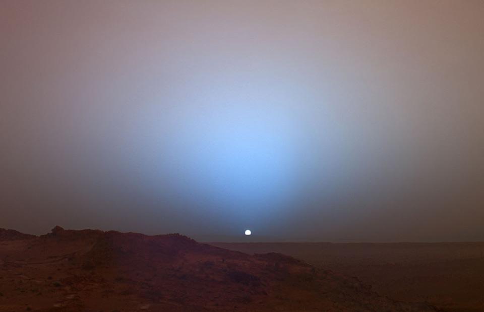 sunset taken from mars