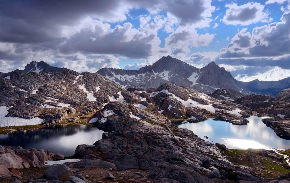 bear lakes basin on the sierra high route, california