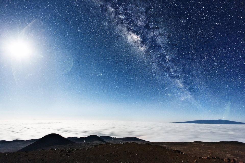 milky way, seen from the top of mauna kea, hawaii