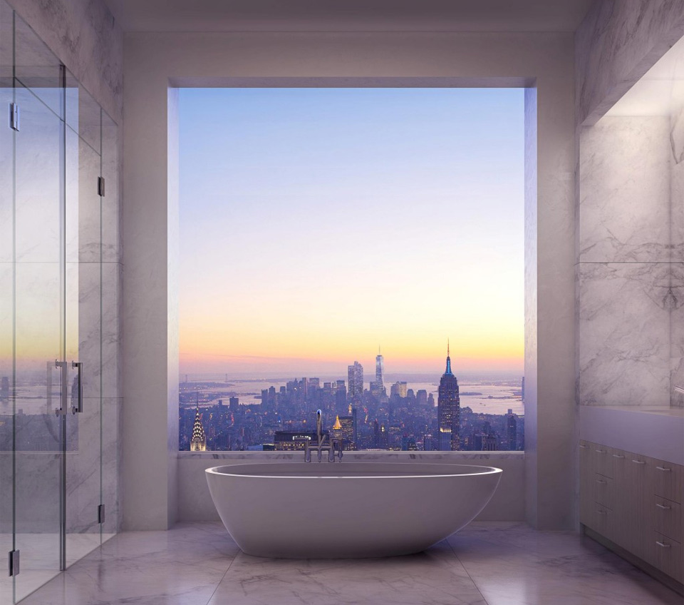 park avenue master suite bathroom, new york